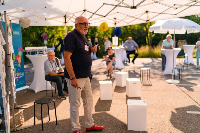 Bild: Wolfgang Vogt (Senioren der Wirtschaft e.V.), Gründerabend © Ludmilla Parsyak Photography / Fraunhofer IAO